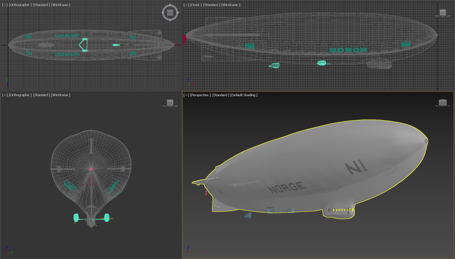 A virtual reconstruction of airship NORGE (1926-2021)